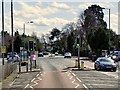 SU9874 : Pedestrian Controlled Traffic Lights, Old Windsor by David Dixon