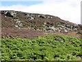 NN9246 : Broken crag by Richard Webb