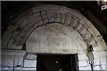 SO7937 : Tympanum, St Gregory's church, Castlemorton by Bob Embleton