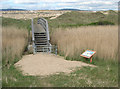SS7883 : Footbridge over the River Kenfig on the Wales Coast Path by eswales