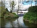 ST6668 : Footbridge, north bank, River Avon, Keynsham Cut by Christine Johnstone