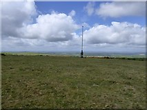 SX6193 : Military flagpole on Watchet Hill by David Smith
