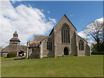 SO3958 : St Mary's Church and bell tower, Pembridge by John Lord
