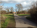 SP2377 : Path to Huggins Close, southeast end of Lavender Hall Park, Balsall Common by Robin Stott