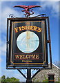 SN2016 : Faded Fisher's name sign, Whitland by Jaggery