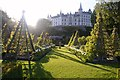 NC8500 : Dunrobin Castle and Gardens on a Spring Evening by Andrew Tryon