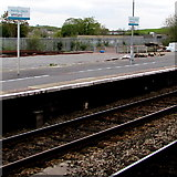 SN1916 : Bilingual name signs, Whitland railway station by Jaggery