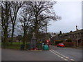 SD2575 : War Memorial, Lindall in Furness: mid February 2015 by Basher Eyre