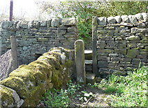 SE0722 : Stile on Sowerby Bridge FP81 at London Road, Norland by Humphrey Bolton