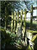 SE0722 : Gated stile on Sowerby bridge FP81, Norland by Humphrey Bolton