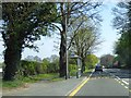SJ4466 : Bus shelter on Tarvin Road, Littleton by David Smith