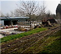 SO6554 : Narrow gauge railway track in Bromyard by Jaggery