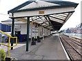 SY6890 : Dorchester West railway station canopy by Jaggery