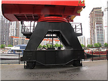 TQ3880 : Crane at Poplar Dock (detail) by Stephen Craven
