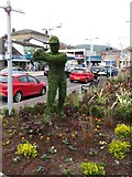 J3731 : Topiary Golfer outside Lidl in Railway Street, Newcastle by Eric Jones