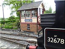 TQ8833 : The signal box at Tenterden Town station by Marathon