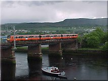 NS3975 : Railway bridge across the River Leven by Tim Glover