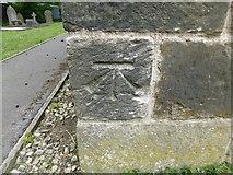 SK4665 : Cut Mark St John The Baptist Ault Hucknall by Monica Stagg