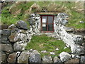 NL9443 : Tiree black house window by M J Richardson