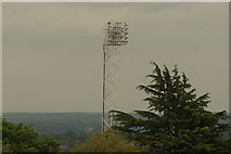 TQ3370 : View of one of the floodlights of the National Sports Centre from the Crystal Palace terrace by Robert Lamb