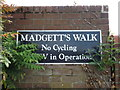 TM1179 : Madgett's Walk sign by Adrian Cable