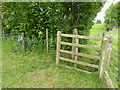 SO7966 : Foot path gate and battery powered electric fence by Jeff Gogarty