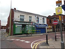 SD5817 : Shops on New Market Street, Chorley by Ian S