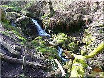 SE0722 : Waterfall on Maple Dean Clough, Greetland by Humphrey Bolton