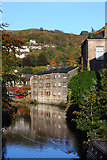 SD9927 : Canal at Hebden Bridge by Wayland Smith