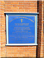 TM1179 : Diss United Reformed Church sign by Adrian Cable