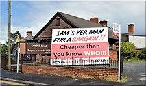 "J3674 : ""Sam's Yer Man"", Belfast - May 2015(3) by Albert Bridge"