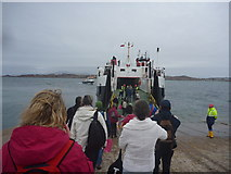 NM2824 : Coastal Argyll : Boarding The MV Loch Buie At Iona Slipway by Richard West