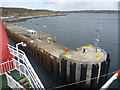 NM2256 : Coastal Argyll : The End Of The Pier At Arinagour, Island Of Coll by Richard West