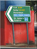 SE3033 : Roadsign on the A61 Regent Street by Adrian Cable