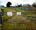 SO6613 : Entrance gate to Littledean Cemetery by Jaggery
