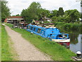 TQ0588 : Narrowboat Holly of Warrington, at Harefield by David Hawgood