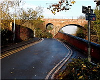 SO8555 : Cycle route 45 from Worcester towards Droitwich by Jaggery