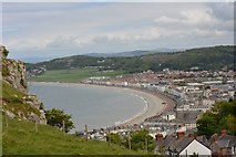 SH7782 : Llandudno from the tramway by Oliver Mills