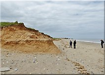 TA4115 : Eroding cliff near Kilnsea by Chris Morgan