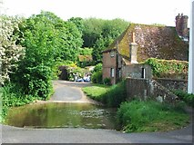 TR1955 : Nail Bourne Stream Ford, Keepers Hill, Patrixbourne by Chris Whippet