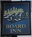 NZ3553 : Sign for the Board Inn, Herrington by JThomas