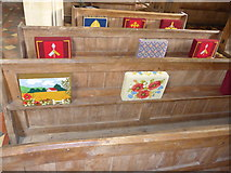 SS6243 : St Thomas, Kentisbury: kneelers and pews (III) by Basher Eyre