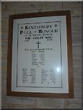 SS6243 : St Thomas, Kentisbury: Roll of Honour (1914-1918) by Basher Eyre
