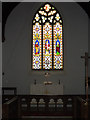 TM0980 : Altar & Stained Glass Window of St.Remigius Church by Adrian Cable