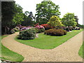 TQ0182 : Paths and bushes in Temple Gardens, Langley Park by David Hawgood