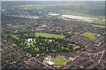 SP7761 : Abington Park and the County Ground: aerial 2015 by Chris