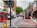TQ3082 : Bus Lane on Pentonville Road at King's Cross by David Dixon