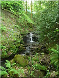 SE0722 : Waterfall on Maple Dean Clough, Norland (14) by Humphrey Bolton