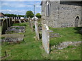 TR0461 : Lozenge graves in St Bartholomew's Churchyard, Goodnestone by Marathon