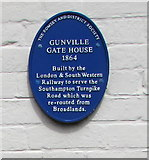 SU3521 : Gunville Gate House blue plaque, Romsey by Jaggery